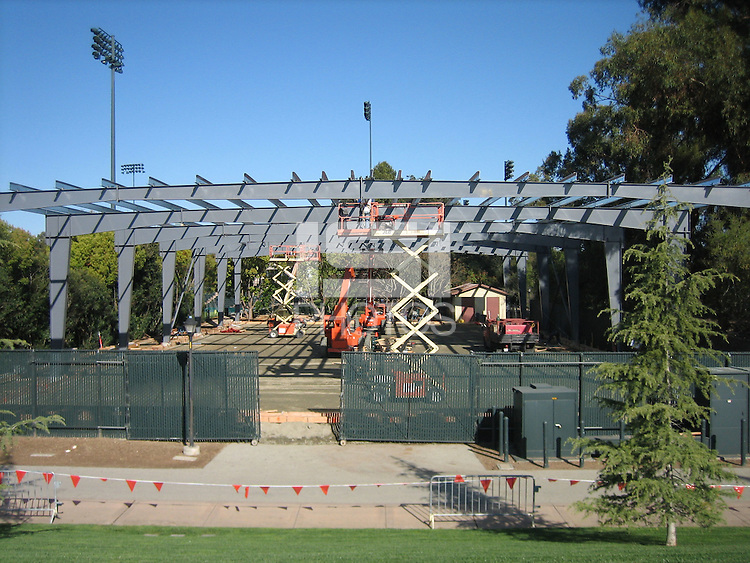 21 March 2007: Photographs of the batting cage facility construction at Sunken Diamond in Stanford, CA.