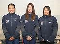 (L to R) Sayoko Harada, Manami Doi, Saki Matsunae, FEBURARY 12, 2012 - Sailing : 2012 Int Laser Radial Class Japan National team and the World Championship team selection race, at Hayama, Kanagawa, Japan. ..(Photo by Atsushi Tomura/AFLO SPORT) [1035]