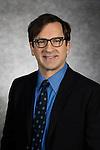 Daniel Moser, Lecturer, The Theatre School, DePaul University, is pictured in a studio portrait Thursday, Feb. 25, 2016. (DePaul University/Jeff Carrion)