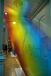"""Wonder"" is the inaugural exhibition at the Renwick Gallery in Washington D.C. Rainbow Strands of polyester sewing thread created by Gabriel Dawe."