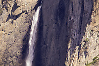 Close up of Yosemite Falls in Yosemite National Park, California, USA