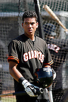 Ehire Adrianza - San Francisco Giants 2009 Instructional League. .Photo by:  Bill Mitchell/Four Seam Images..