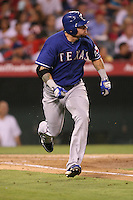 08/16/11 Anaheim, CA: Texas Rangers left fielder Josh Hamilton #32 during an MLB game played between the Texas Rangers and the Los Angeles Angels at Angel Stadium. The Rangers defeated the Angels 7-3.