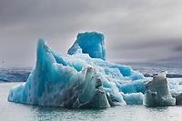 Glacier icebergs, Svalbard, Norway