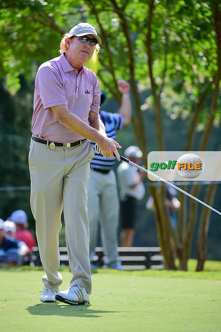 Paul Claxton (USA) watches his tee shot on 11 during Friday's round 2 of the PGA Championship at the Quail Hollow Club in Charlotte, North Carolina. 8/11/2017.<br /> Picture: Golffile | Ken Murray<br /> <br /> <br /> All photo usage must carry mandatory copyright credit (&copy; Golffile | Ken Murray)