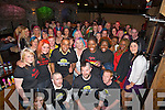 HEADSHAVE: Brian Shanahan get his head shave from Elethya Gooden (Alpha Hairdresser Tralee) on Thursday night in Hennessy Bar, for Irish Cancer and organised by St Bridgids Centre Hawley Park, Tralee a large crowd gatered into Hennessy to support the..