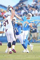 10/15/12 San Diego, CA: San Diego Chargers quarterback Philip Rivers #17 during an NFL game played between the San Diego Chargers and the Denver Broncos at Qualcomm Stadium. The Broncos defeated the Chargers 35-24.
