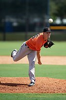 Baltimore Orioles pitcher Tim Naughton (86) delivers a pitch during an Instructional League game against the New York Yankees on September 23, 2017 at the Yankees Minor League Complex in Tampa, Florida.  (Mike Janes/Four Seam Images)
