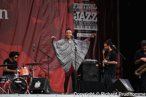 Ester Rada from Israel performing on stage at the Montreal International Jazz Festival