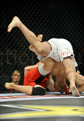 24.06.2011, Washinton, USA.  Trevor Smith attempts to flips Keith Berry onto his back during the STRIKEFORCE Challengers at the ShoWare Center in Kent, Washington. Smith choked out Berry in the second round.
