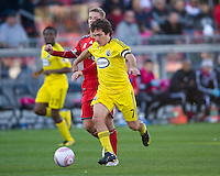16 October 2010: Columbus Crew midfielder/forward Guillermo Barros Schelotto #7 in action  during a game between the Columbus Crew and Toronto FC at BMO Field in Toronto..The game ended in a 2-2 draw.