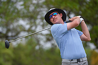 Joel Dahmen (USA) watches his tee shot on 2 during day 2 of the Valero Texas Open, at the TPC San Antonio Oaks Course, San Antonio, Texas, USA. 4/5/2019.<br /> Picture: Golffile | Ken Murray<br /> <br /> <br /> All photo usage must carry mandatory copyright credit (&copy; Golffile | Ken Murray)