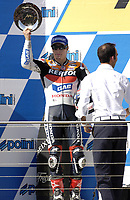 Nicky Haden / USA comes in second place.<br /> Motorcycles - MotoGP Phillip Island/ Round 15<br /> 2005 Australian Motorcycle Grand Prix<br /> Phillip Island, Victoria, Australia. Oct. 16, 2005<br /> &copy; Sport the library/Courtney Harris