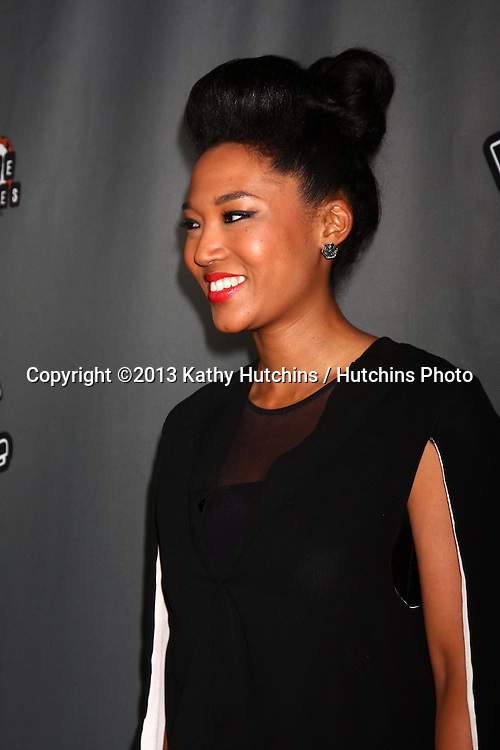 """LOS ANGELES - MAY 8:  Judith Hill arrives at """"The Voice"""" Season 4 Top 12 Event at the House of Blues on May 8, 2013 in West Hollywood, CA"""