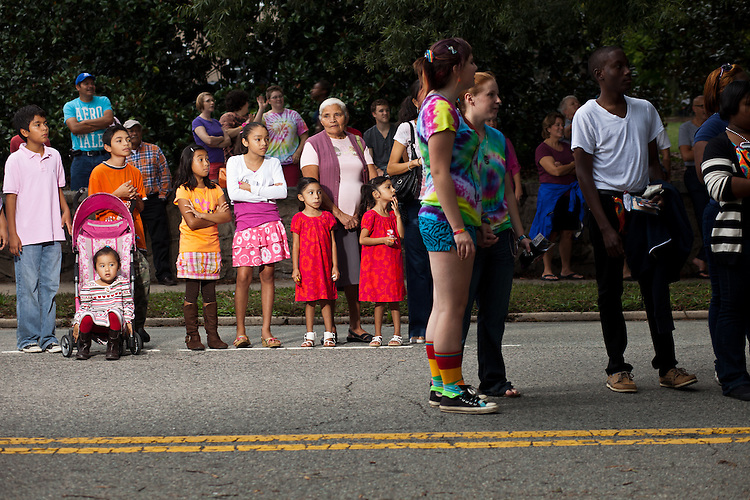 People of all ages and backgrounds lined Main Street to watch the 27th annual N.C. PRIDE parade in Durham, NC, Saturday, September 24, 2011.