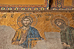 The Deesis mosaic, dates back to 1261, located in the Upper Galleries of the Hagia Sophia; the mosaic is considered an example of the beginning of Renaissance in Byzantine pictorial art