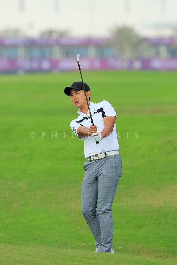 Soomin Lee (KOR) during the third round of the Commercial Bank Qatar Masters played at Doha Golf Club, Qatar. 24/02/2018<br /> Picture: Golffile | Phil Inglis<br /> <br /> <br /> All photo usage must carry mandatory copyright credit (&copy; Golffile | Phil Inglis)