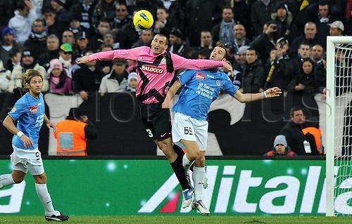 18.12.2011. Turin, Italy.   Giorgio Chiellini Juventus Riccardo  Novara Torino  Series A 2011 2012 Juventus  vs Novara Calcio