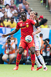 Romelu Lukaku (BEL), Vasili Berezutski (RUS), JUNE 22, 2014 - Football / Soccer : FIFA World Cup Brazil 2014 Group H match between Belgium 1-0 Russia at the Maracana stadium in Rio de Janeiro, Brazil. (Photo by Maurizio Borsari/AFLO)