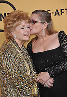 Debbie Reynolds &amp; daughter Carrie Fisher at the 2015 Screen Actors Guild  Awards at the Shrine Auditorium.<br /> January 25, 2015  Los Angeles, CA<br /> Picture: Paul Smith / Featureflash