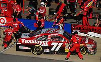 Nov. 1, 2009; Talladega, AL, USA; NASCAR Sprint Cup Series driver Bobby Labonte pits during the Amp Energy 500 at the Talladega Superspeedway. Mandatory Credit: Mark J. Rebilas-