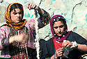 Iran 1979.Women spinning in a Kurdish village