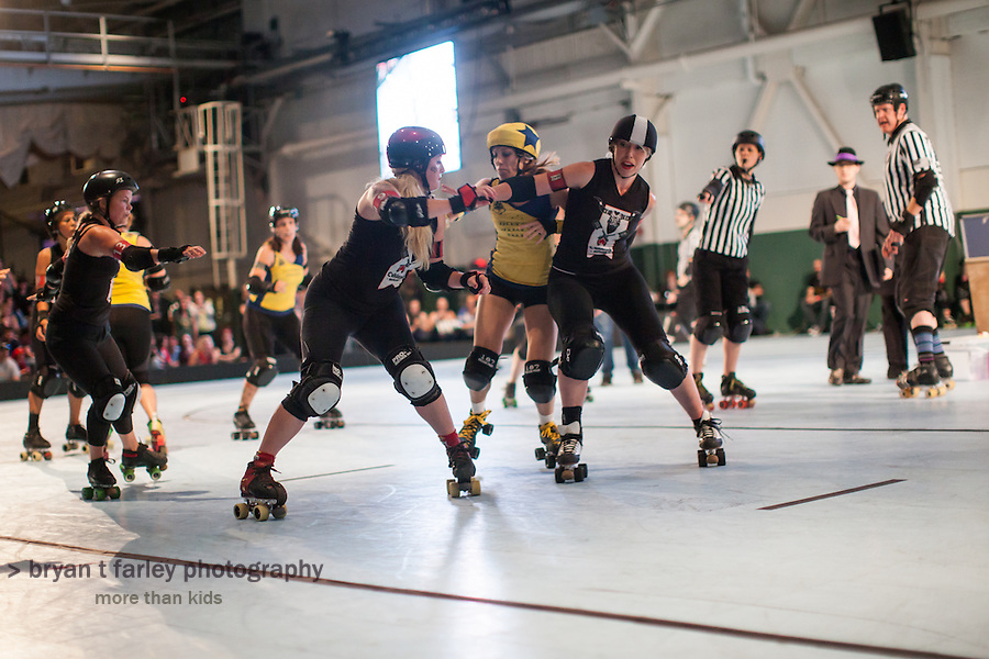 The Richmond Wrecking Belles won the 2014 Bay Area Derby Girls League Championship on Saturday, August 23 2014. The final score was 181-178.