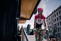 Simon Clarke (AUS/Cannondale-Drapac)<br /> <br /> Stage 5: Grenoble &gt; Valmorel (130km)<br /> 70th Crit&eacute;rium du Dauphin&eacute; 2018 (2.UWT)