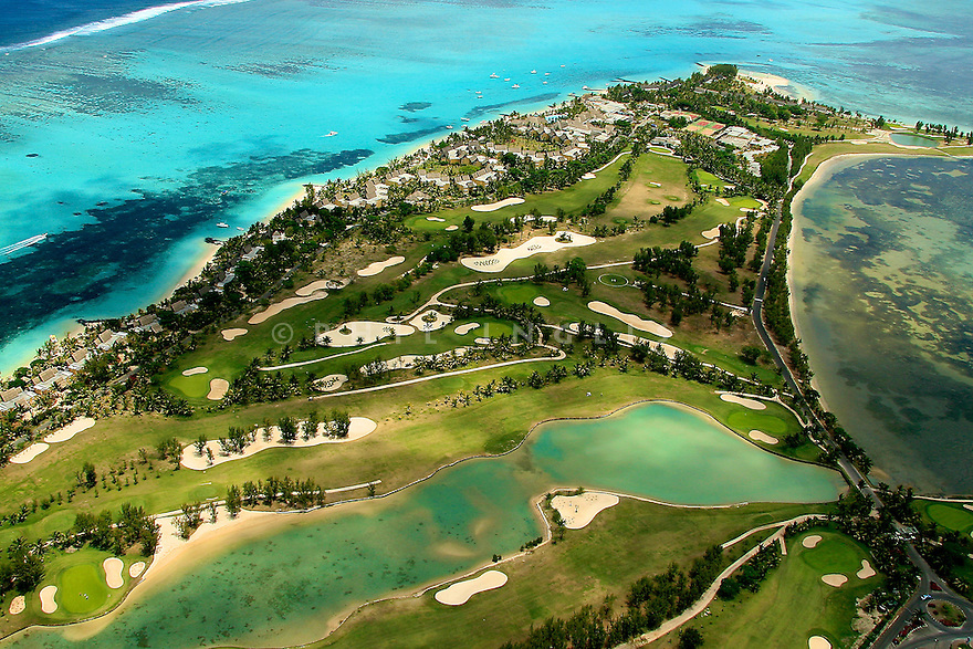 An aerial view of Paradis Hotel & Golf Club, Mauritius. Picture Credit/ Phil Inglis