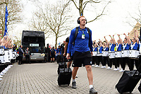 Miles Reid and the rest of the Bath Rugby team arrive at Twickenham. Gallagher Premiership match, The Clash, between Bath Rugby and Bristol Rugby on April 6, 2019 at Twickenham Stadium in London, England. Photo by: Patrick Khachfe / Onside Images
