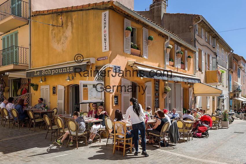 France, Provence-Alpes-Côte d'Azur, Saint-Tropez: restaurant Le Schpountz in old town   Frankreich, Provence-Alpes-Côte d'Azur, Saint-Tropez: Restaurant Le Schpountz in der Altstadt