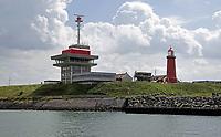 Nederland -  IJmuiden - 2019.   Vuurtoren bij de haven van IJmuiden. Noordzeekanaal.  Foto Berlinda van Dam / Hollandse Hoogte