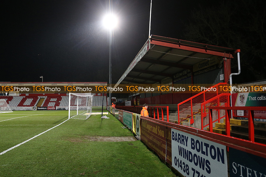 View of the North Terrace during Stevenage vs Leyton Orient, Sky Bet EFL League 2 Football at the Lamex Stadium on 28th February 2017