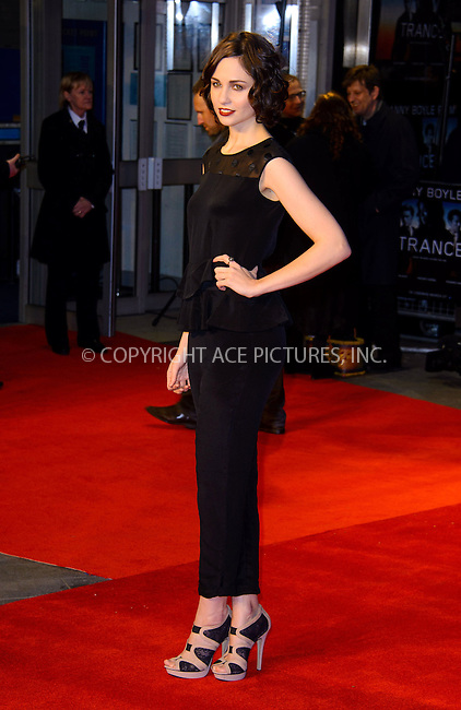 WWW.ACEPIXS.COM....US Sales Only....March 19 2013, London....Tuppence Middleton at the World premiere of 'Trance' held at the Odeon West End on March 19 2013  in London ....By Line: Famous/ACE Pictures......ACE Pictures, Inc...tel: 646 769 0430..Email: info@acepixs.com..www.acepixs.com