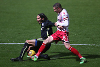Harry Beautyman of Stevenage and Matias Ezequiel Schelotto of Brighton during Stevenage vs Brighton & Hove Albion Under-21, Checkatrade Trophy Football at the Lamex Stadium on 7th November 2017