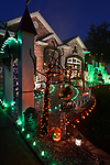 The home of Jay and Susan Trevisano, who have an elaborate Halloween display in their front yard at 9211 Laurel Hill Drive in Crestwood, MO.  Photo taken on Thursday October 11, 2018.<br /> Photo by Tim Vizer
