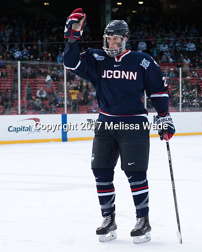 Wyatt Newpower (UConn - 20) - The University of Maine Black Bears defeated the University of Connecticut Huskies 4-0 at Fenway Park on Saturday, January 14, 2017, in Boston, Massachusetts.