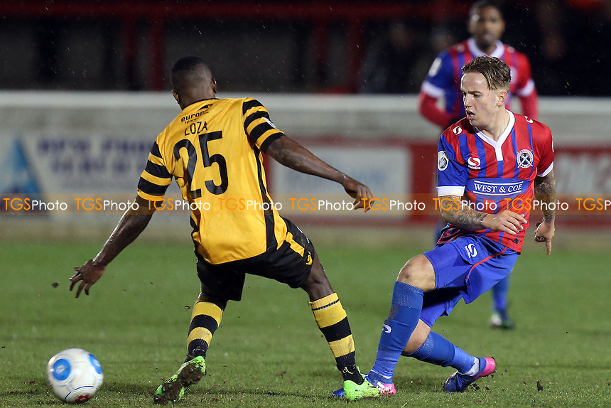Jordan Maguire-Drew of Dagenham and Jamar Loza of Maidstone United during Dagenham & Redbridge vs Maidstone United , Vanarama National League Football at the Chigwell Construction Stadium on 28th February 2017