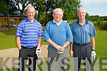 GOLF: Just finished their round of golf at Ardfertt Golf Clubn on the Ardfert Capt of Ardfert Prize day Brian O'Loughlin, PJ Riordan and James O'Loughlin.