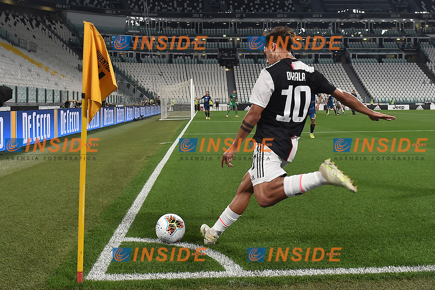 Paulo Dybala of Juventus <br /> during the Serie A football match between Juventus FC and US Lecce at Juventus stadium in Turin  ( Italy ), June 26th, 2020. Play resumes behind closed doors following the outbreak of the coronavirus disease. Photo Andrea Staccioli / Insidefoto