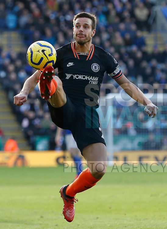Cesar Azpilicueta of Chelsea during the Premier League match against Leicester City at the King Power Stadium, Leicester. Picture date: 1st February 2020. Picture credit should read: Darren Staples/Sportimage