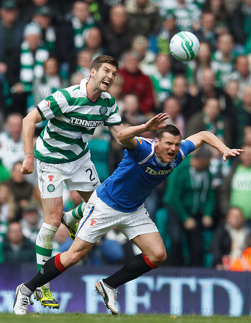 Charlie Mulgrew fouls Lee McCulloch