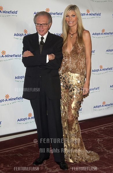 TV presenter LARRY KING & wife SHAWN SOUTHWICK at the 3rd Annual Adopt-A-Minefield Benefit Gala at the Beverly Hills Hilton..Sept 23, 2003