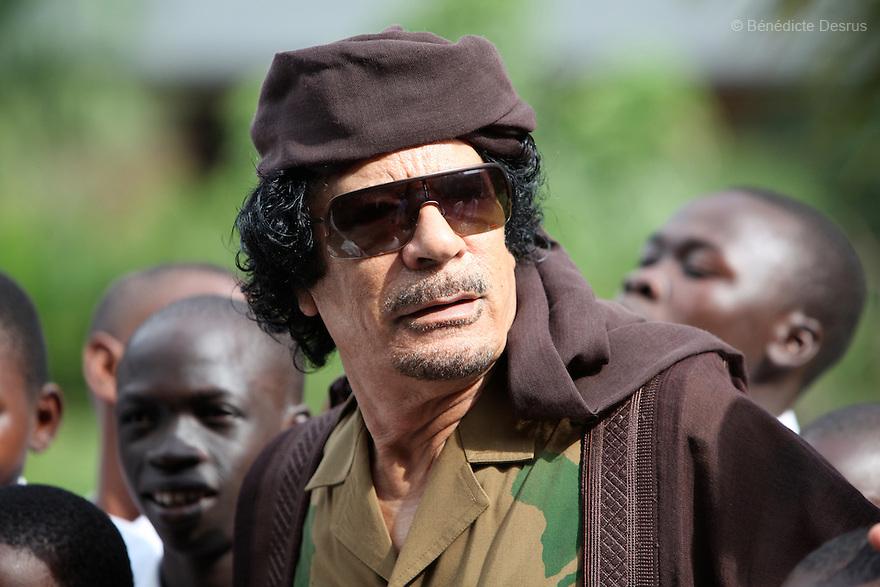 Sunday 25 july 2010 - Muhamar al Gaddafi. Photo credit: Benedicte Desrus