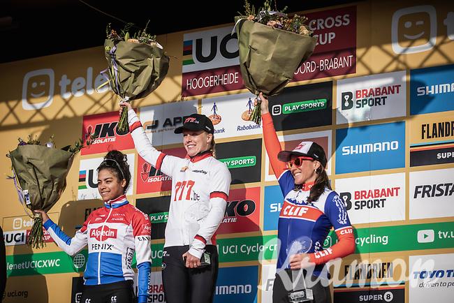 podium World Cup Classification:<br /> 1st place -  Annemarie Worst (NED/777)<br /> 2nd place - Ceylin Del Carmen Alvarado (NED/Alpecin Fenix)<br /> 3th place -  Katerina Nash (CZE/Cliff)<br /> <br /> Elite Womens Race <br /> UCI Cyclocross Worldcup – Hoogerheide (Netherlands)<br /> ©kramon