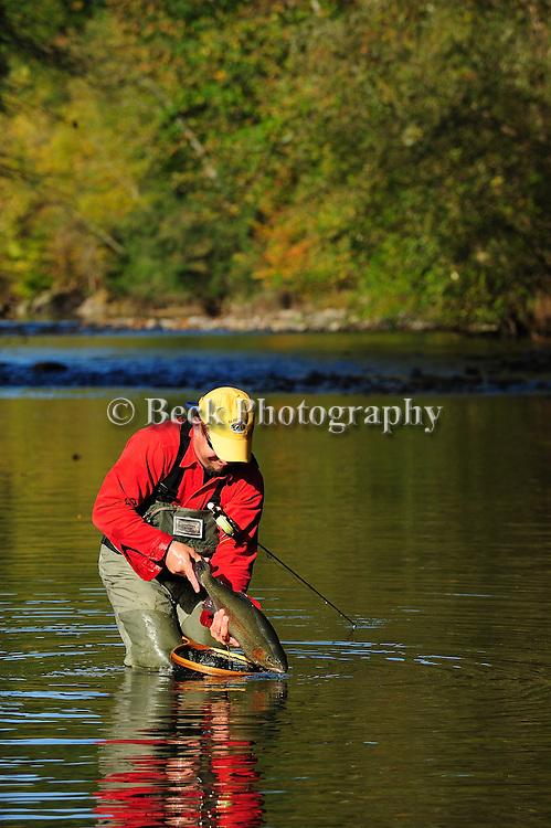 fly fishing, fall on fishing creek, pa