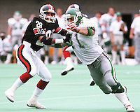 Bobby Jurasin Saskatchewan Roughriders 1987. Copyright photograph Scott Grant