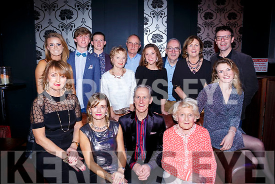 Dr David Buckley celebrating 25 years with his family and friends in Benners Hotel, Tralee on New Years Eve, Front l to r, Helen Casey, Aine McGillicuddy, Dr David Buckley, Aine Buckley &amp; Nell Casey. <br /> Back l to r, Iseult Ni Buachalla, Eoghan &amp; Donagh Buachalla, Denise Buckley, Tadgh McGillicuddy, Kate Casey, Bob Casey, Marian McGillicuddy and Niall Casey.