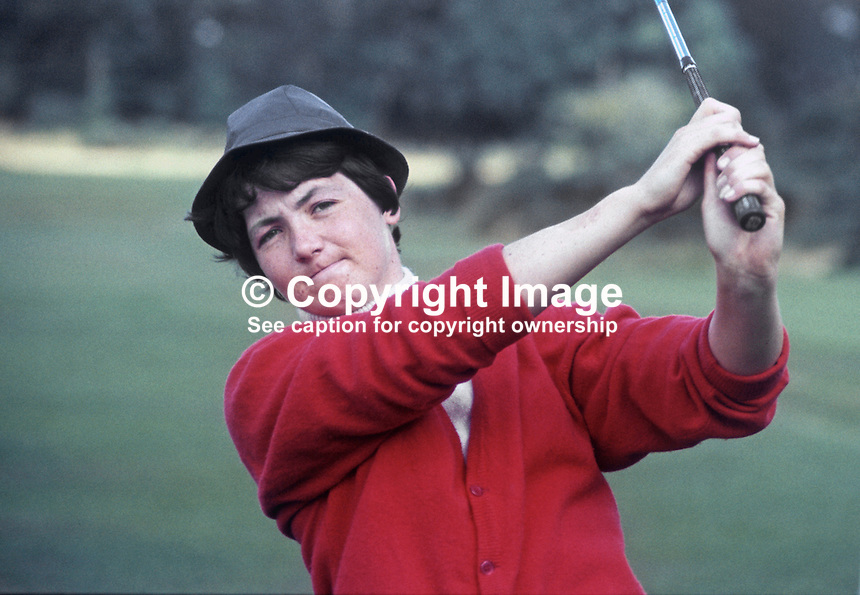 Elizabeth-Ann McGregor,golfer, amateur, Massareene, Co Antrim, N Ireland, 196908000229b<br /> <br /> Copyright Image from Victor Patterson,<br /> 54 Dorchester Park, Belfast, UK, BT9 6RJ<br /> <br /> t1: +44 28 90661296<br /> t2: +44 28 90022446<br /> m: +44 7802 353836<br /> <br /> e1: victorpatterson@me.com<br /> e2: victorpatterson@gmail.com<br /> <br /> For my Terms and Conditions of Use go to<br /> www.victorpatterson.com