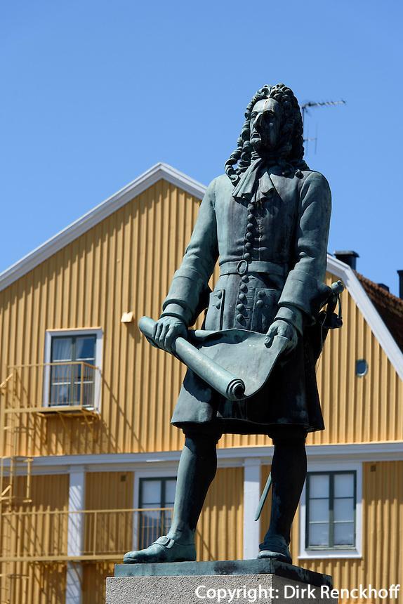 Denkmal Admiral Hans Wachtmeister am Kungsbron, Karlskrona, Provinz Blekinge, Schweden, Europa, UNESCO-Weltkulturerbe<br /> Monument admiral Hans Wachtmeister at Kungsbron   in Karlskrona, Province Blekinge, Sweden